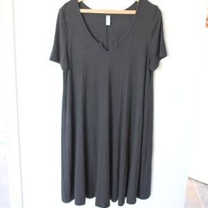 american apparel charcoal gray t shirt dress L